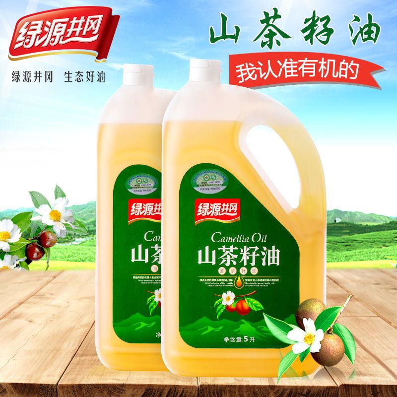 纯正有机山茶油 物理压榨茶籽油 5L食用油498元