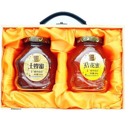 秦岭深山土蜂蜜桔花蜜650g*2瓶128元